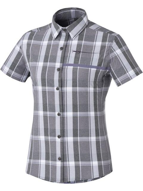 Shimano Transit Check Button Up SS Shirt Women Shark